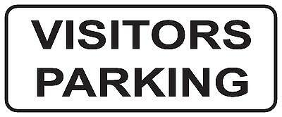 Visitors Parking - Metal Aluminium Sign 300 X 125Mm - Visitor Parking (Acm) Sign