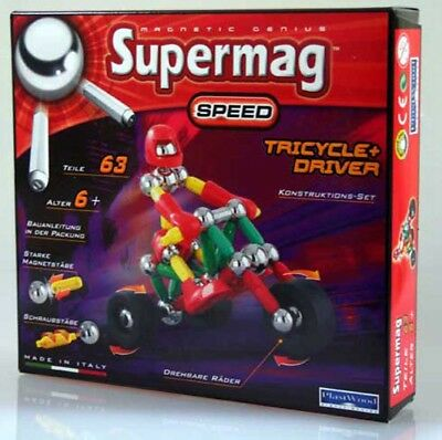 Supermag Magnetic Dreirad Fahrer Speed Tricycle  Driver 0367