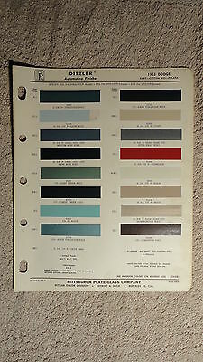 Ditzler Paint Chip Charts - 1963 Dodge