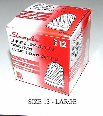 Rubber Finger Tips(Thimbles),Size-13 (Large),Qty=12