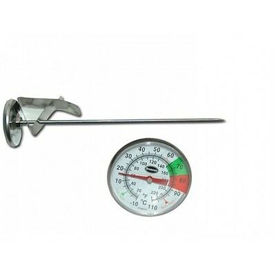 Professional Dairy Thermometer with Pan Clip and 7 inch probe