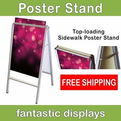 Top Loading Double Sided Poster Frame - Sandwich Board, A-Frame Style