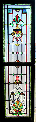 ~ Antique American Stained Glass Window ~ Top & Bottom ~ Beautiful Architectural