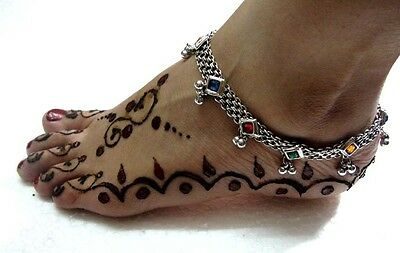 New Indian Kuchi Tribal Ethnic Belly Dance Hand Crafted Oxidized Anklet Jewelry