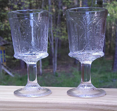 Two Canadian Wine Glasses EAPG