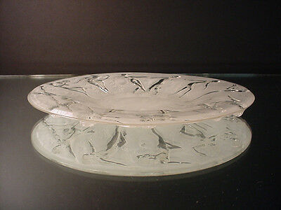 "Scarce Phoenix Consolidated Glass 8"" Dancing Nymph Salad Plate Martele Art Deco"