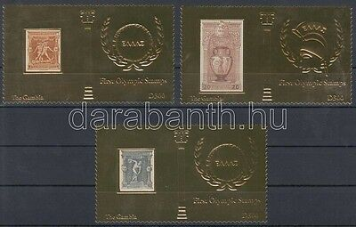 Gambia stamp First Olympic gold foil block MNH 2012 WS122157