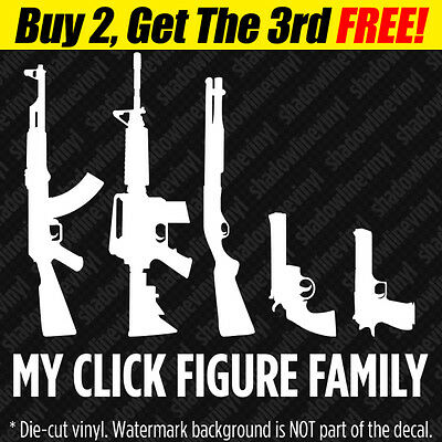 Window Decal Gun Family Stick Figure Protection Response Team 2nd Amendment