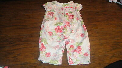 Janie And Jack Romantic Rose 3-6 Gorgeous Floral Outfit Smocked