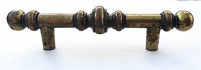 "Gorgeous Bronzed Mid Century Modern Drawer Pull Antique Hardware  3"" centers"