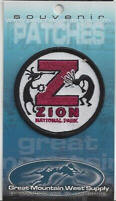 SOUVENIR PATCH - ZION  NATIONAL PARK UTAH - Z IS FOR ZION