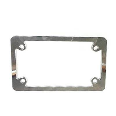 custom metal deluxe chrome motorcycle license plate frame lic tag fastener