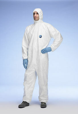 Tyvek CHF5 Classic Xpert Type 5 & 6 Protective Hooded Coverall - All Sizes