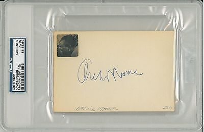 Archie Moore Signed Authentic Autographed 4x6 Index Card (PSA/DNA) #83153350