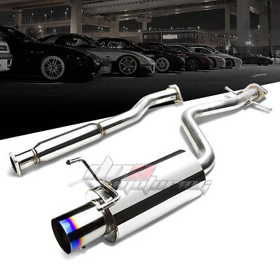 """4""""burnt Tip Stainless Steel Exhaust Catback System For 01-05 Altezza Is300 Xe10"""