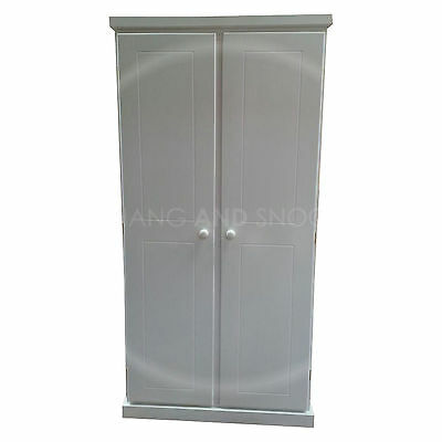 Hand Made Cambridge Wardrobe Ladies White(Assembled)