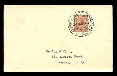 Exhibition 1928 London Philatelic Special Pmk...george King Cover