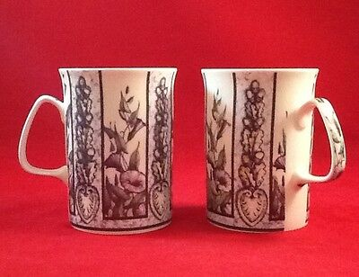 Lakeside Collection Fine Bone China Cups ~ Garden Morning Glory Made in England