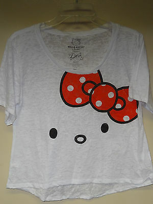 Hello Kitty White ( Kitty Face with Red & White Bow ) T-shirt