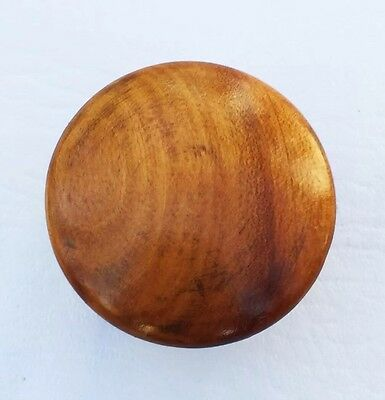 "Antique Wood Drawer Knob Hardware Pull Maple Cabinet Knob Mushroom  1 3/4"" diam"