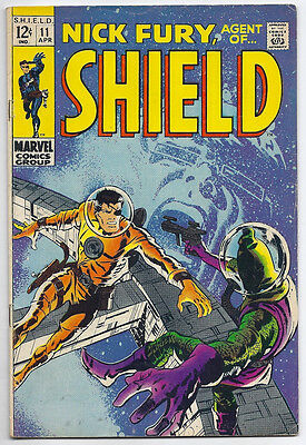 (1969) Nick Fury Agent Of Shield #11 Barry Smith Cover! 4.0 / Very Good