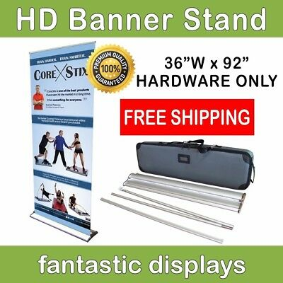 "36"" Pro Line Retractable Roll Up Banner Stand - Holds 69"" - 92"" Tall Banners"