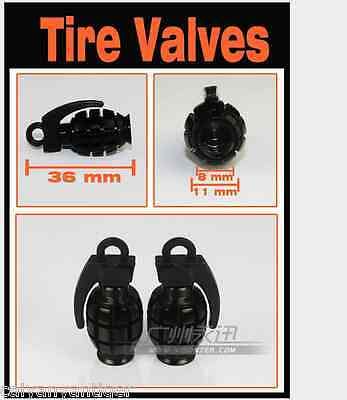 4 Pcs Grenade Bomb Style Motorcycle Tyre Tire Valve Stem Caps  Covers for Harley