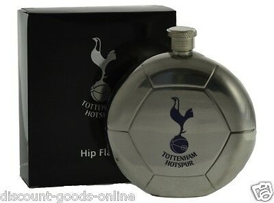 Tottenham Ball Shape Hip Flask Great Birthday Or Christmas Present (Spurs)