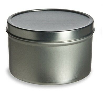 4oz  Round Deep Tin Containers with Lids   12    NEW    Candles, Spices, Beads