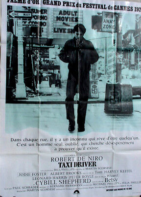 Taxi Driver 1976 Original French Movie Poster 47x63 NM