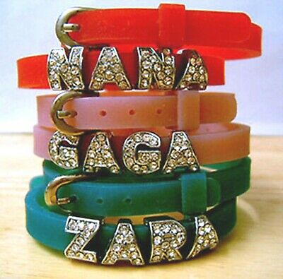 Personalised Name children kids craft jewellery gift Bracelet /wristbands- Bling