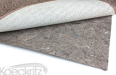 2' x 12' Non-skid Reversible Rubber Felt Area Rug Pad for Hard Surfaces/Carpet