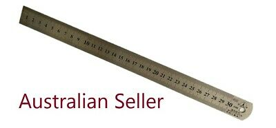 Brand New! 30Cm Stainless Steel Metal Ruler Rule Precision Double Sided
