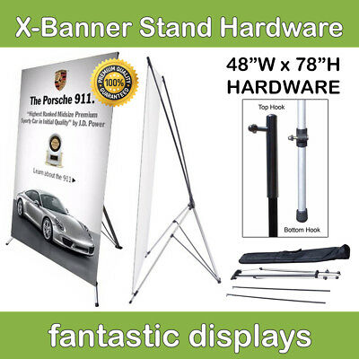 48x78 X-Shaped Banner Stand Frame for Freestanding Trade Show Banners