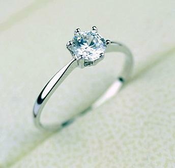 18K White Gold GP 1.5CT Solitaire Engagement Wedding Ring Fast Ship AU Brand NEW