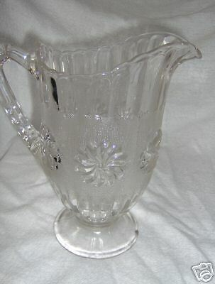 Vintage Frosted Glass Milk Pitcher