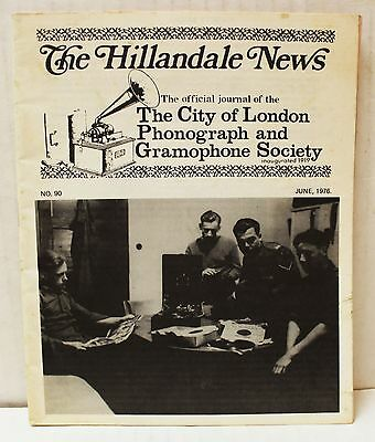 The Hillandale News The City of London Phonograph and Gramophone Society