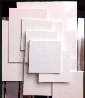 Lot 12! TWELVE 100% Cotton Blank White Art Canvas Panels! Acrylic/Oil! BRAND NEW
