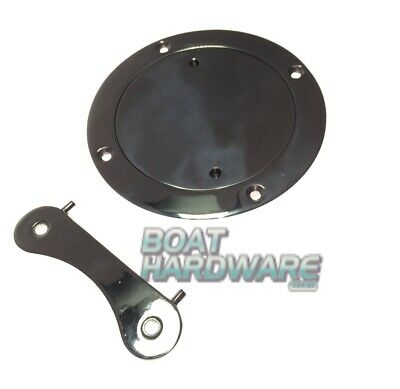 "Boat Deck Plate 4"" or 100mm with key 316 Marine Stainless Steel Inspection port"