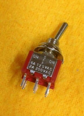 Mini toggle switch ON-OFF-ON 6 pin 240V 2A 2 way 6 pin terminal DPDT 125V 6A
