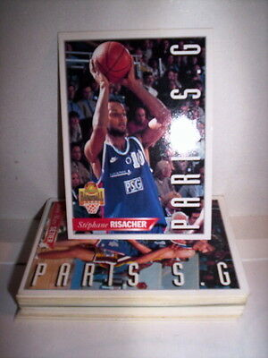 Lot 37 Cartes Basket Panini Snb Lnb 1995 Francais Special Paris - Psg Racing