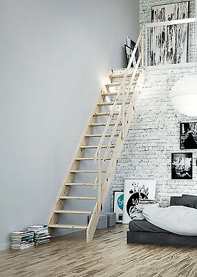 Normandie Wooden Space Saver Staircase Kit (Loft Stair)