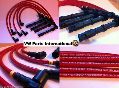 VW Golf MK2 1.8 16v KR, PL Red Blue 10mm HT Ignition Leads High Performance