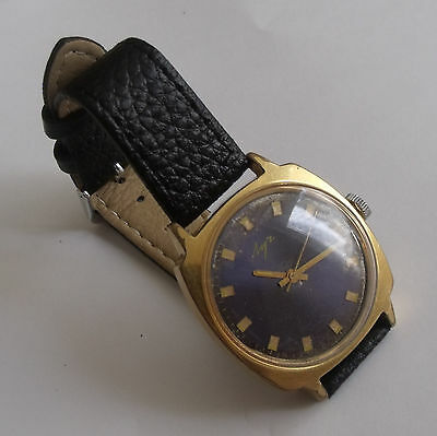 """Vintage """"Luch""""-  Gold Plated-Old Ussr Wrist Watch Men,S"""