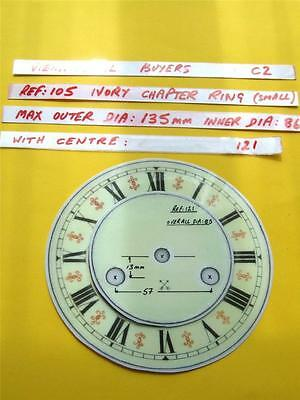 Buyers Ref:C2  Replacement laminate Ivory  Small springer Clock Dial option 32