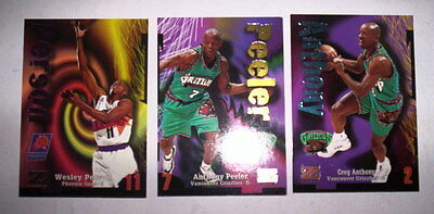 Superbe Lot 3 Cartes Basket Nba Z-Force Skybox 1997