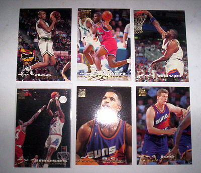 Superbe Lot 6 Cartes Basket Nba Topps Stadium Club 1994