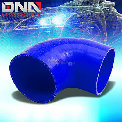 "3.5"" 3-Ply 90 Degree Elbow Turbo/charger/air Intake Silicone Coupler Hose Blue"