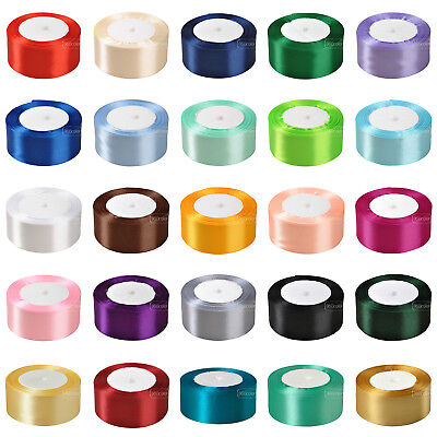"25 Yards 38mm (1.5"") Satin Ribbon Roll Bow Wedding Party Birthday Xmas Decor"