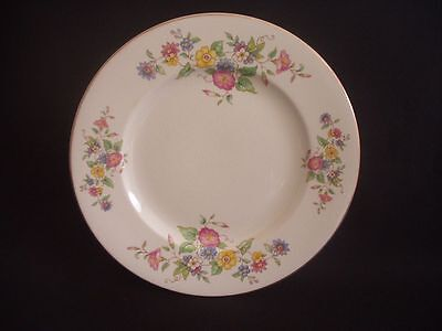 "BURLEIGH WARE -BURGESS & LEIGH -8.75"" PLATE -FLORAL PATTERN & GILDING -c.1940"